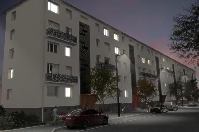 Immeuble - Avant projet - nuit